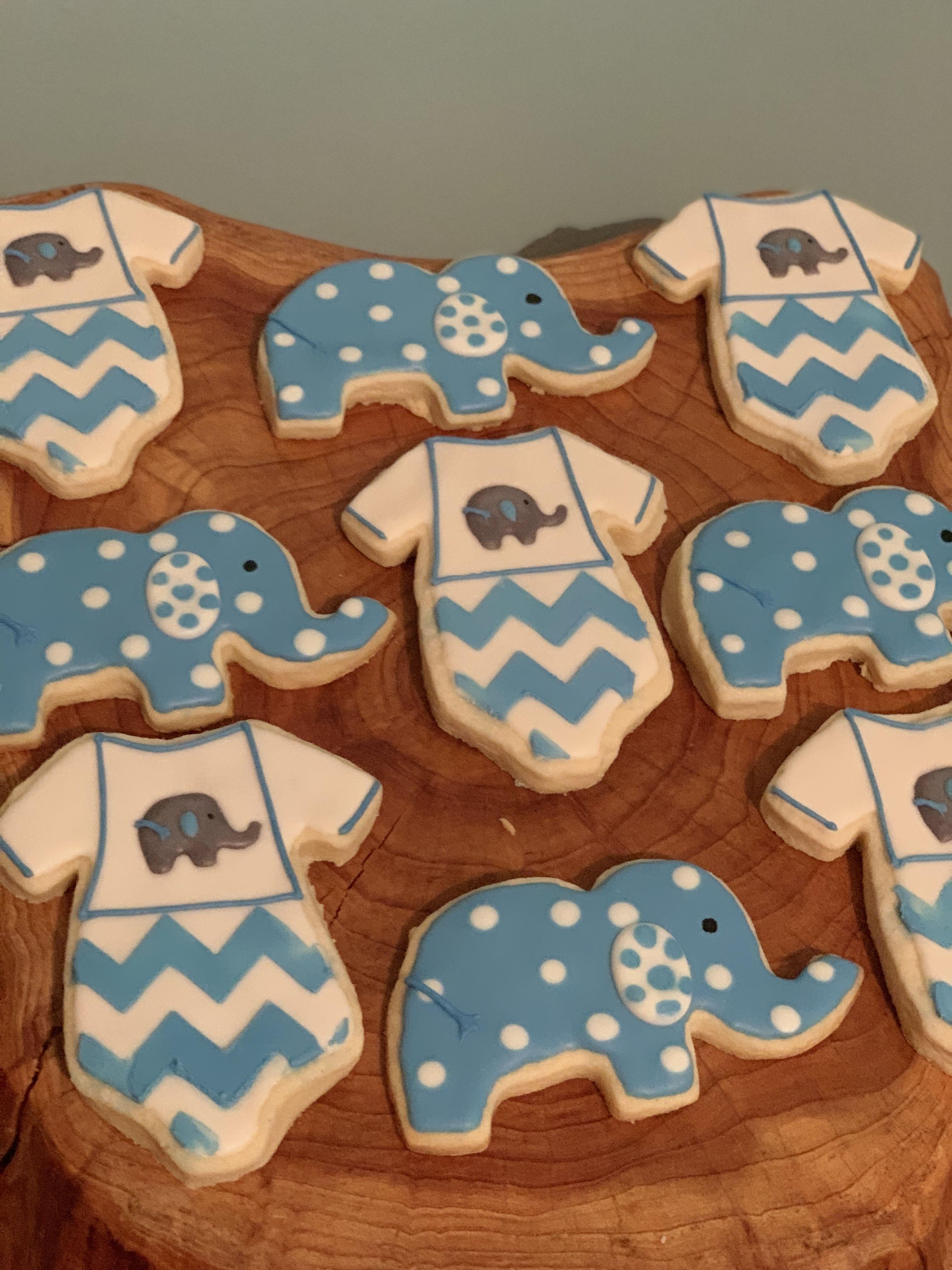 Sugar Cookies For Baby Boy Shower Sugarcookies Babyboy