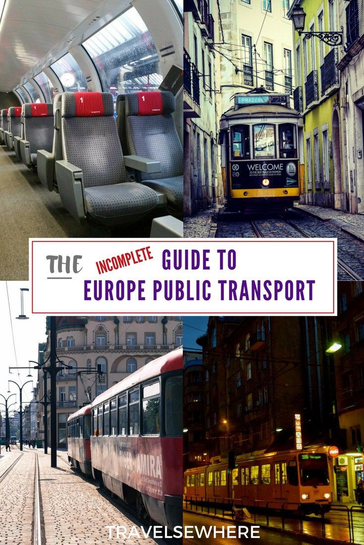 How to Travel in Europe by Public Transport