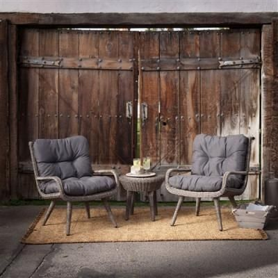 Buy Weather Resistant Wicker Resin Patio Furniture Set W/ 2 Chairs Cushions  U0026 Side Table  Free Shipping At OliveTree Home For Only $899.00 | Resin Patio  ...
