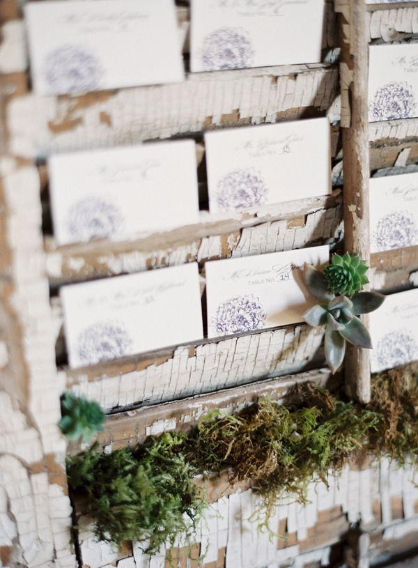 #escort-cards  Photography: Laura Gordon Photography - lauragordonphotography.com Planning + Design: Tyler Flood - tylerflood.carbonmade.com Floral Design: Sugar Magnolias - naturecomposed.com  Read More: http://stylemepretty.com/2013/01/24/charlottesville-virginia-wedding-from-laura-gordon-photography/