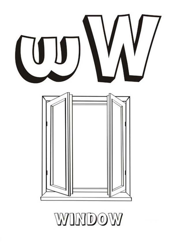 Letter W For Window Coloring Page Bulk Color Coloring Pages Letter W Lettering