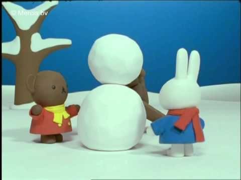 nijntje maakt een sneeuwkonijn (officieel filmpje van nijntje)