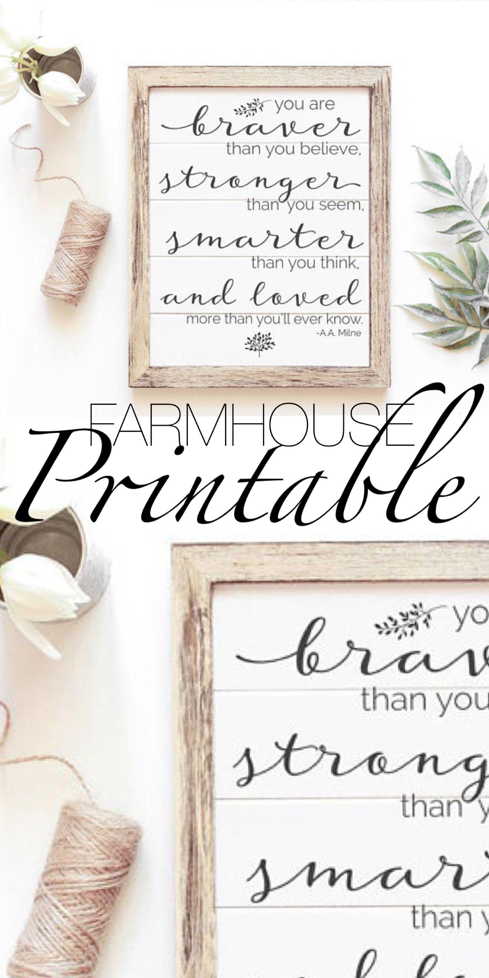 Cute Simple Modern Farmhouse Style Printable. ad Love how