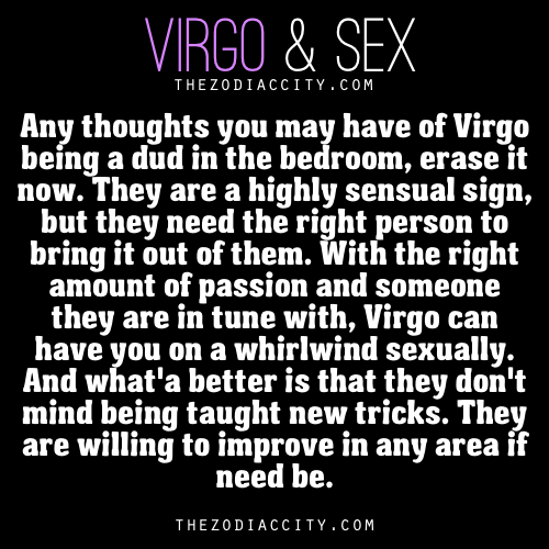 Taurus female and virgo male sexually