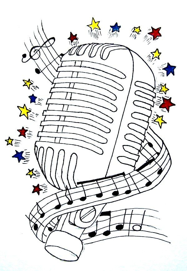 art therapy coloring page music headphones and microphone 14 autoart therapy coloring page music headphones and microphone 14