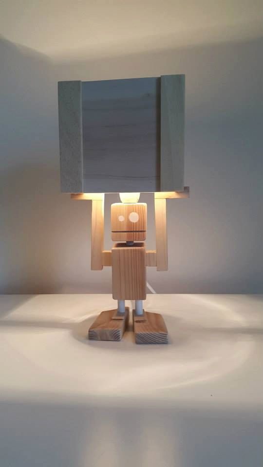 Hey I Found This Really Awesome Etsy Listing At Https Www Etsy Com Uk Listing 261719976 Isiah Robot Table Lamp Reclaimed Woo Robot Lamp Diy Lamp Wooden Lamp