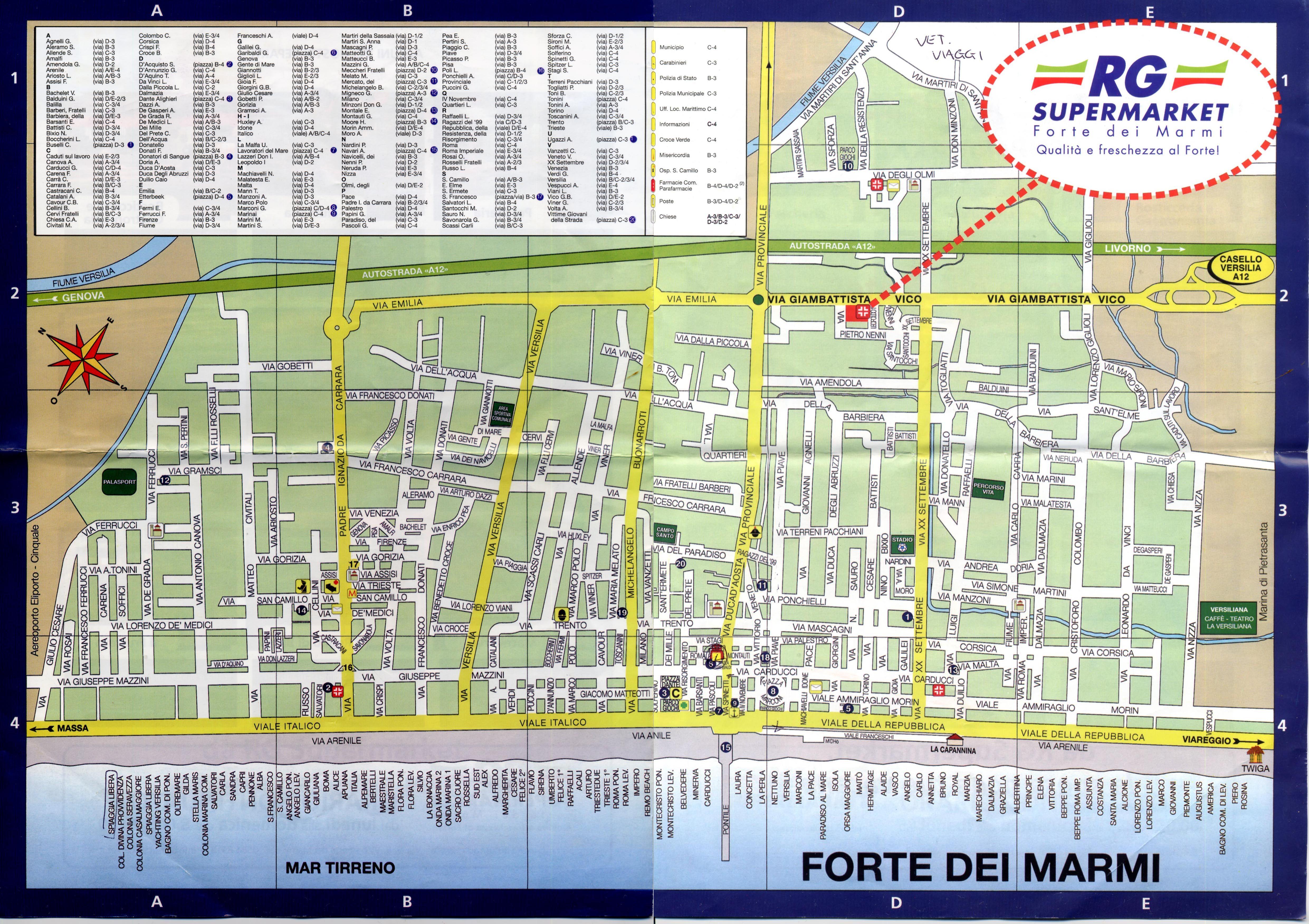 Forte Dei Marmi Map Map Forte Di Marmi Mappery Map Amazing