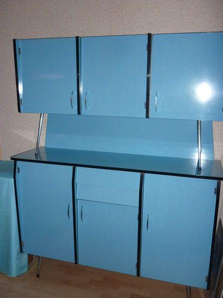 cuisine vintage compl te formica bleu table 0 80 x 1 20