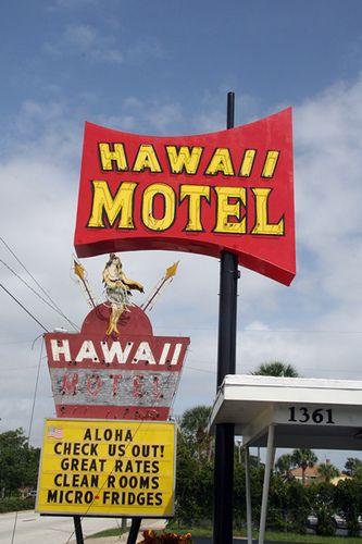 Hawaii Motel Sign Daytona Beach Fl Neon Lights Vintage Signs Pinterest And