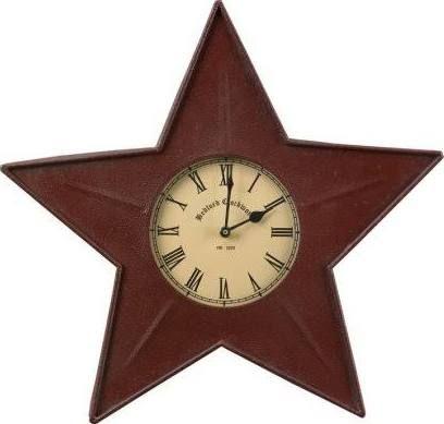 Primitive Star Clock Metal Clock Metal Wall Clock Wall Clock