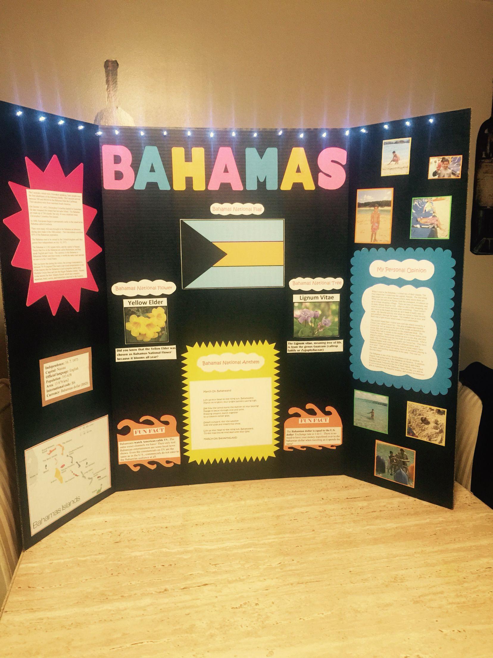 Bahamas Tri-Board Gate Night Project   School projects