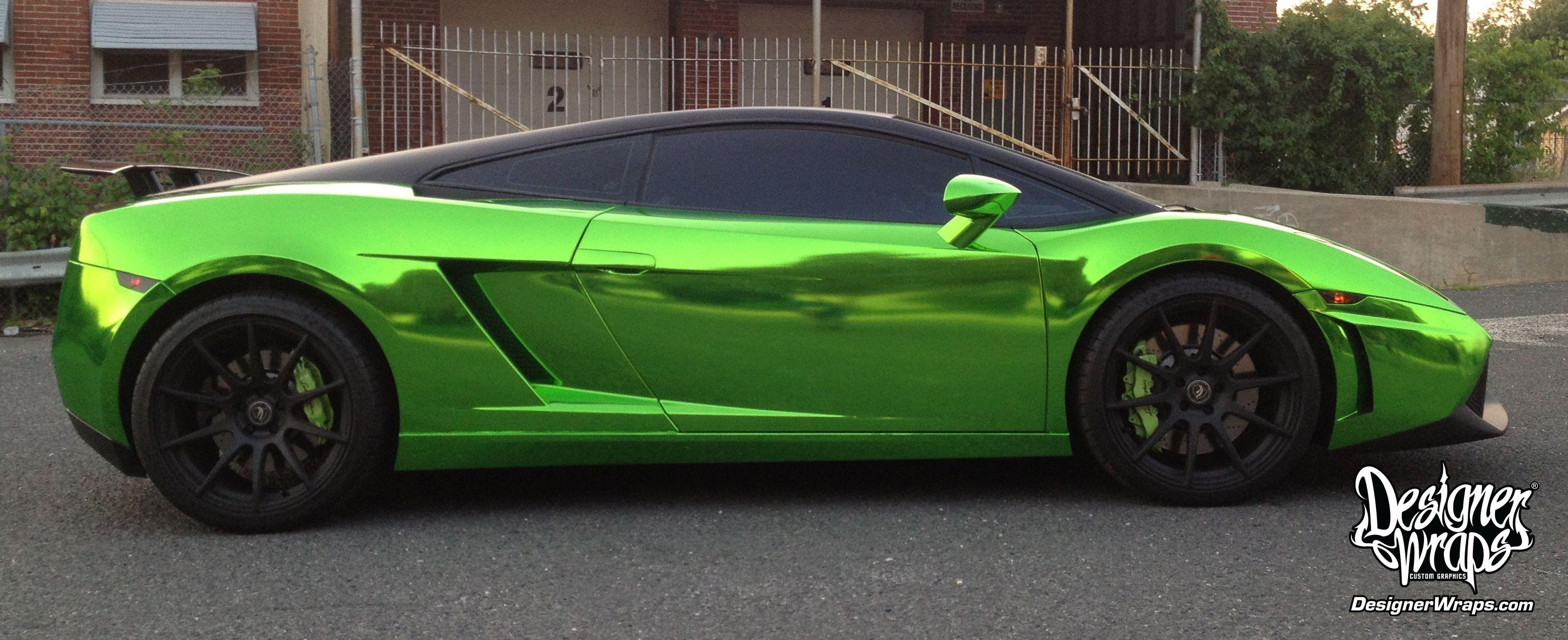 Green Chrome Lamborghini Gallardo