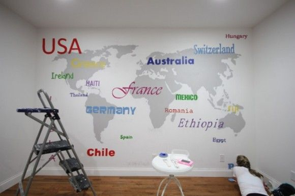Idea paint wall in flat finish with map in same color semi gloss idea paint wall in flat finish with map in same color semi gloss or gumiabroncs Images