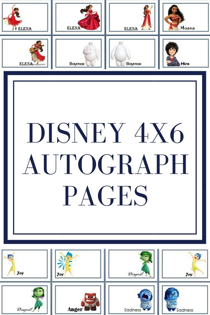 It is an image of Printable Disney Autograph Book intended for personalized photo disney
