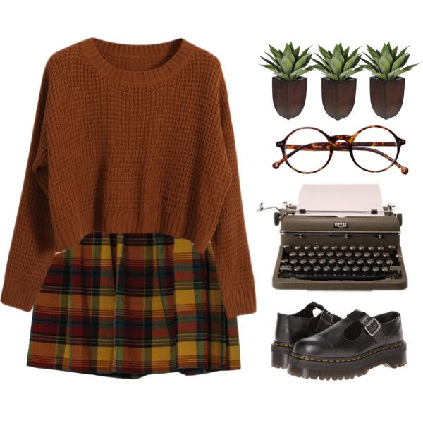 Erin by chelseapetrillo on Polyvore featuring Chicnova Fashion, Dr. Martens, Retrò, women's clothing, women's fashion, women, female, woman, misses and juniors