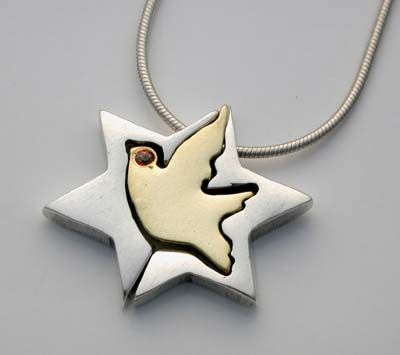 Jewelry star of david gold center dove in star of david pendant jewelry star of david gold center dove in star of david pendant aloadofball Images