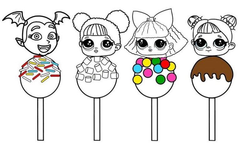 Sweet Lollipop Lol Surprise Coloring Page Coloring Pages Owl Coloring Pages Lol Dolls