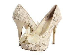 Lace & Ivory Heels  @Arielle Amick