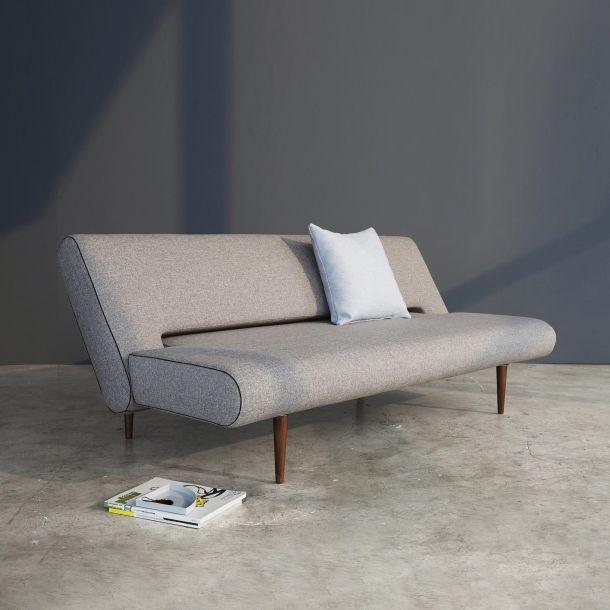 Unfurl Sofa Dark Wood Legs Mixed