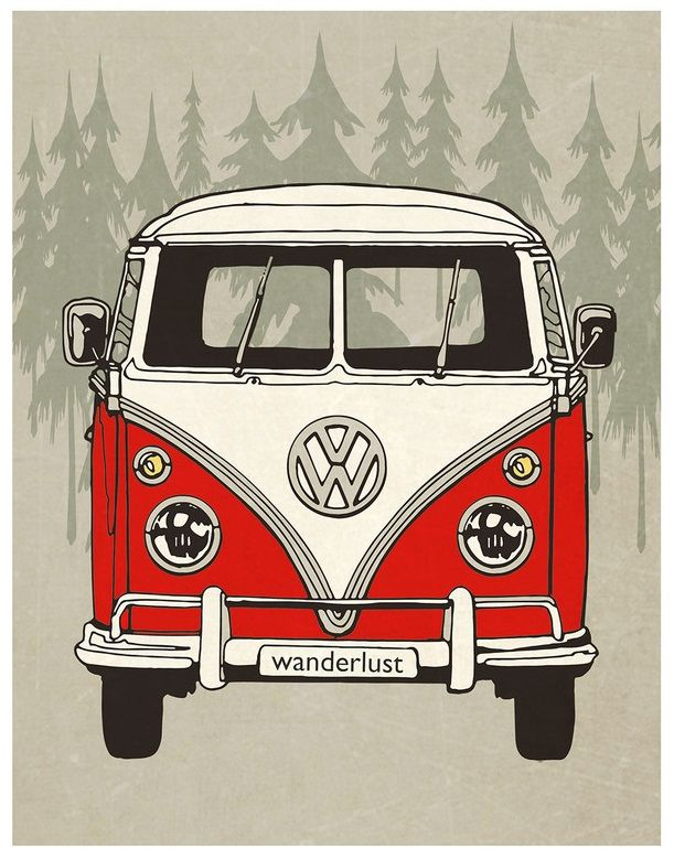 a vw bus named wanderlust automobiles pinterest drawing kombis und automobil. Black Bedroom Furniture Sets. Home Design Ideas
