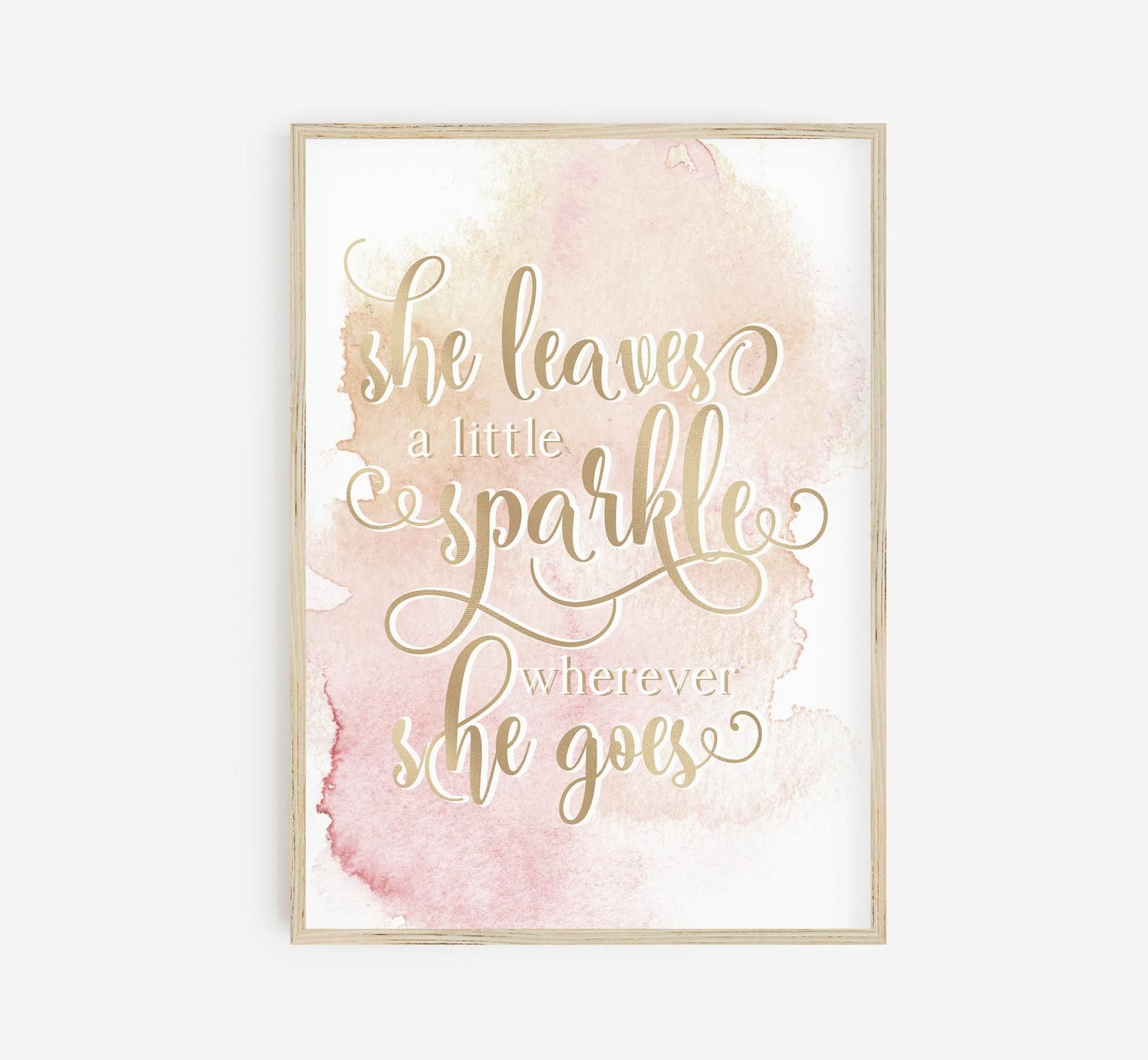 She Leaves A Little Sparkle Wherever She Goes Poster Office Etsy Printable Art Designs Nursery Wall Art Printable Printable Art