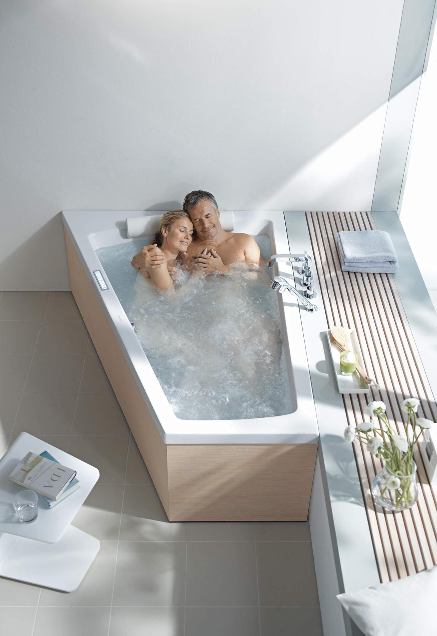 Badezimmer ideen mit wanne duravit paiova bathtub for two  bathroom in   pinterest