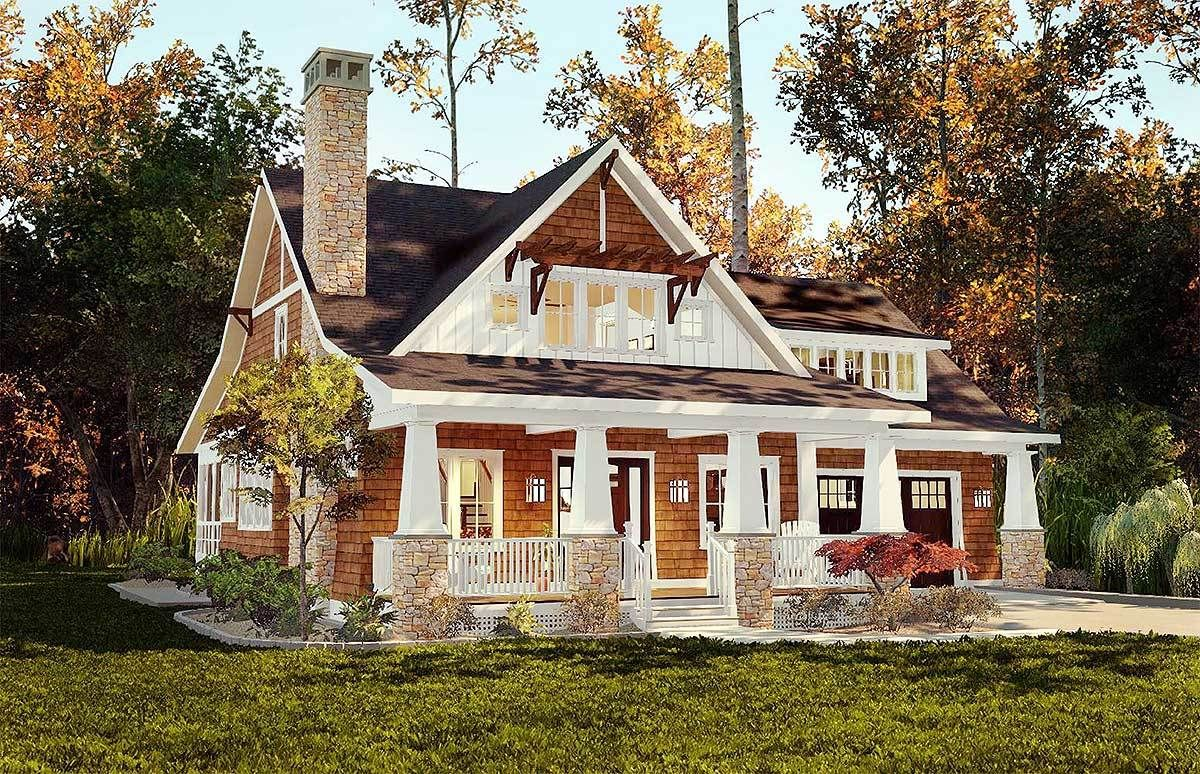 Craftsman Storybook Bungalow With Screened Porch