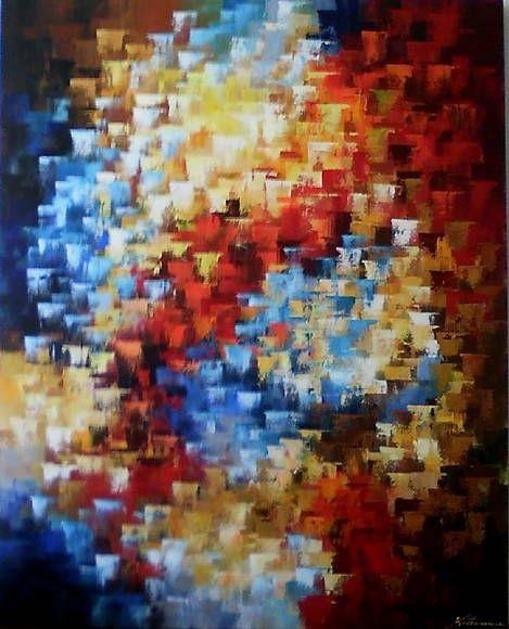 Pinturas em quadros abstratos