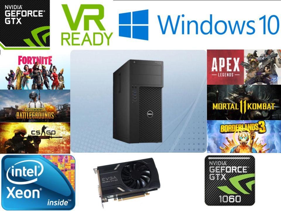 120 FPS FORTNITE* Dell Gaming PC Xeon E3 1270 V3, GTX 1060 3GB, 16GB