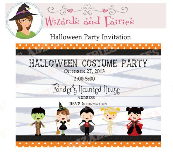 Halloween Party Printable Invitation