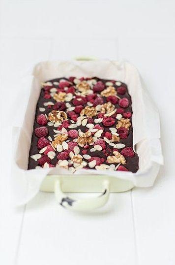 Raspberry and Almond Chocolate Brownies   Marylicious, January 2014 [Original recipe in German]