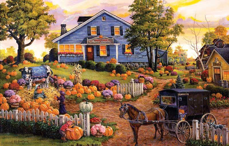 Best Autumn Farm Puzzles Autumn art, Art, Thanksgiving art
