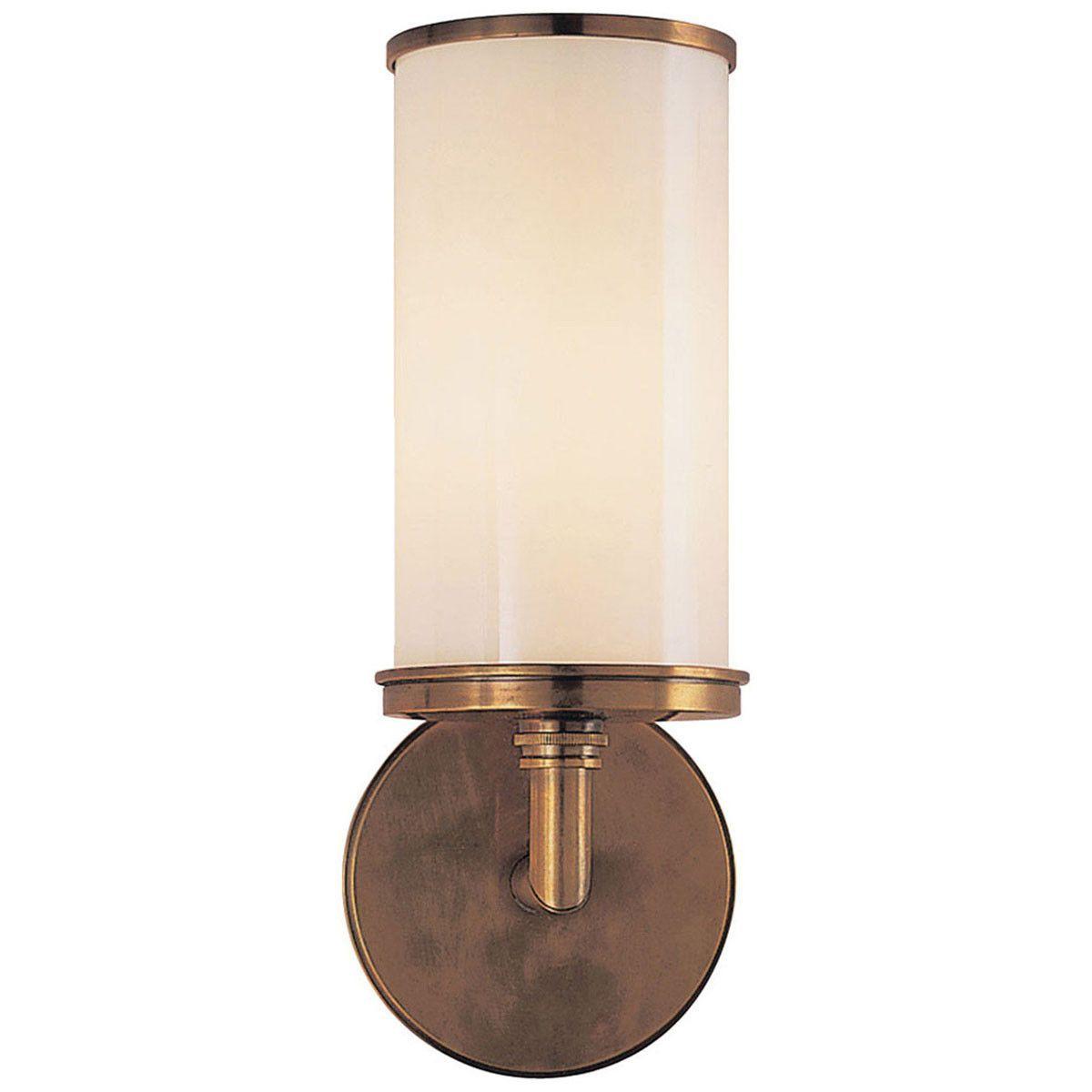 Visual Comfort Lighting Studio Cylinder 1 Light Bath Wall Light Visual Comfort Lighting Wall Lamp Design Sconces