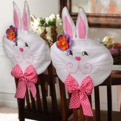 Phenomenal Product Details Easter Girl Bunny Chair Covers Set Of 2 Spiritservingveterans Wood Chair Design Ideas Spiritservingveteransorg