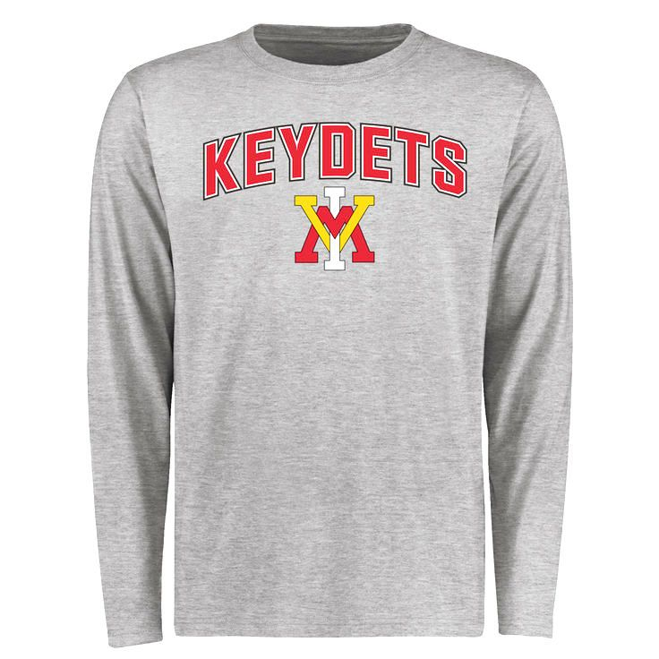 Virginia Military Institute Keydets Proud Mascot Long Sleeve T-Shirt - Ash  -  37.99 d0ad3075a