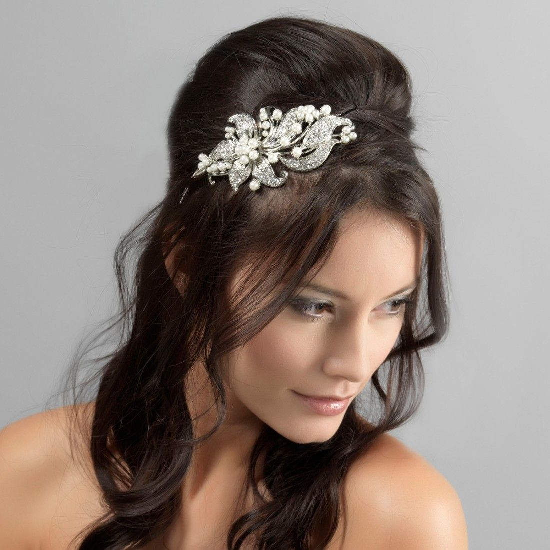 precious extravagance side tiara | wedding hair accessories and hair