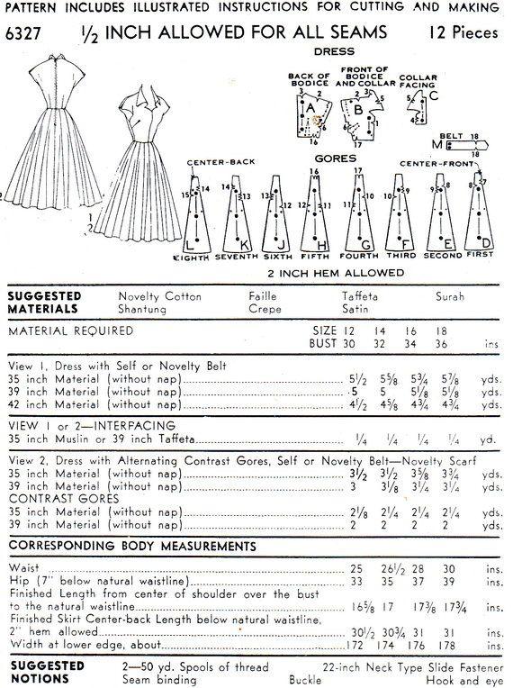 Photo of Artikel ähnlich den 1950er Jahren Dress Pattern Advance 6327 Fit und Flare Ganzrock Tag Abendkleid Keyhole Mieder Damen Vintage Schnittmuster Büste 32 auf Etsy