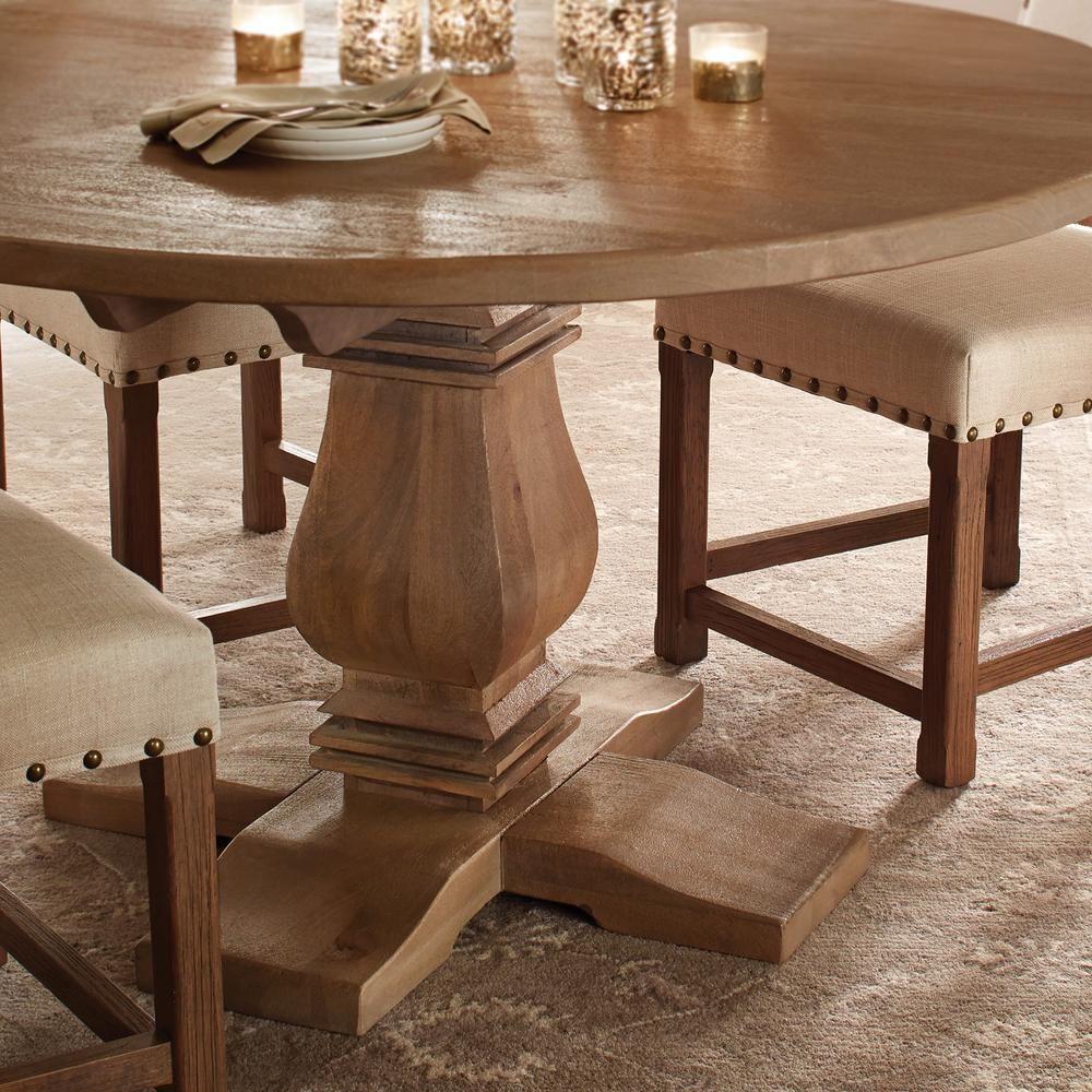 Home Decorators Collection Aldridge Antique Walnut Round Dining