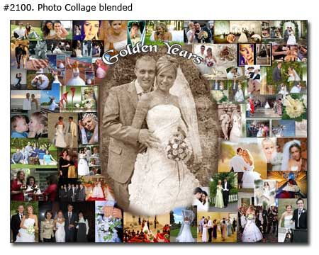 how to make anniversary picture colage | Photo Collage: Golden ...