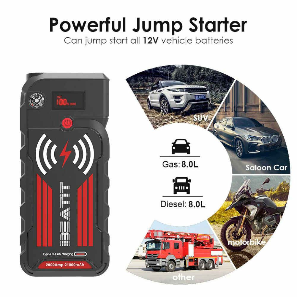 Portable Car Jump Starter With Wireless Charger In 2020 Wireless