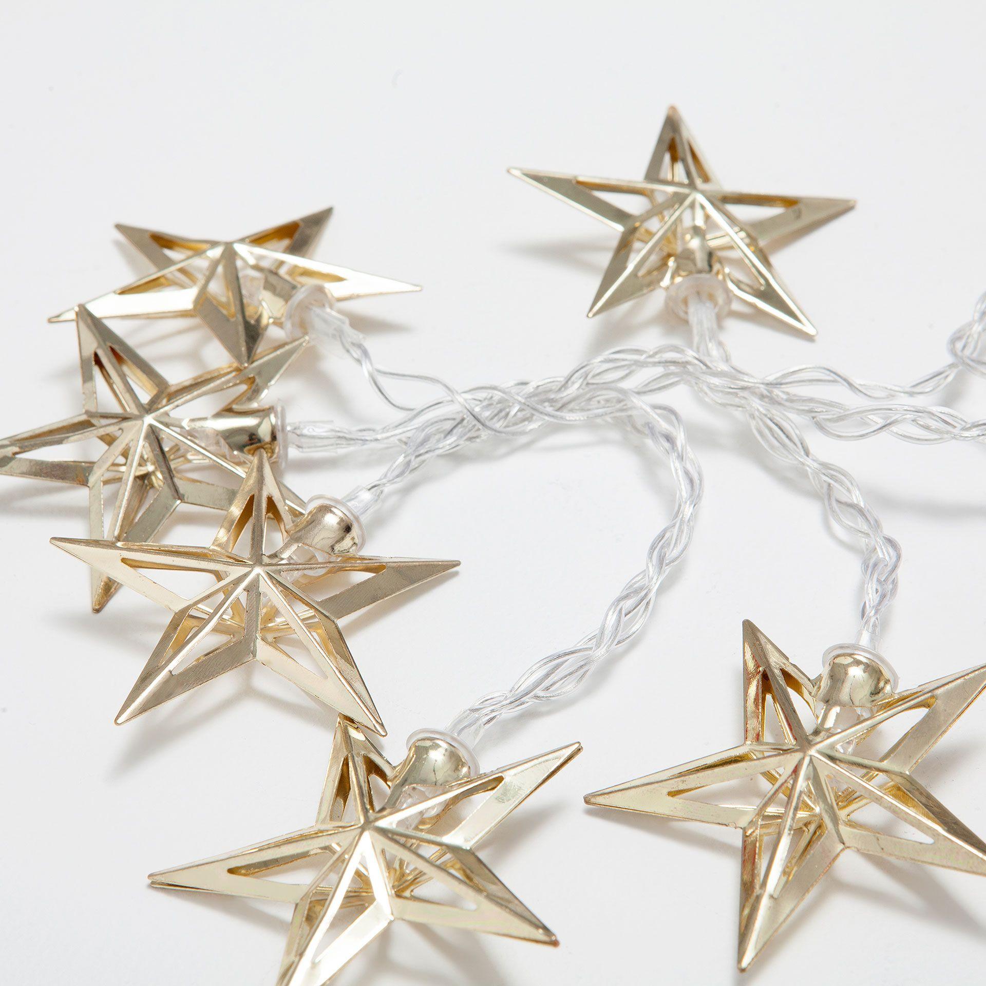 Guirnalda luces estrellas doradas - Guirnaldas - Para el árbol ...