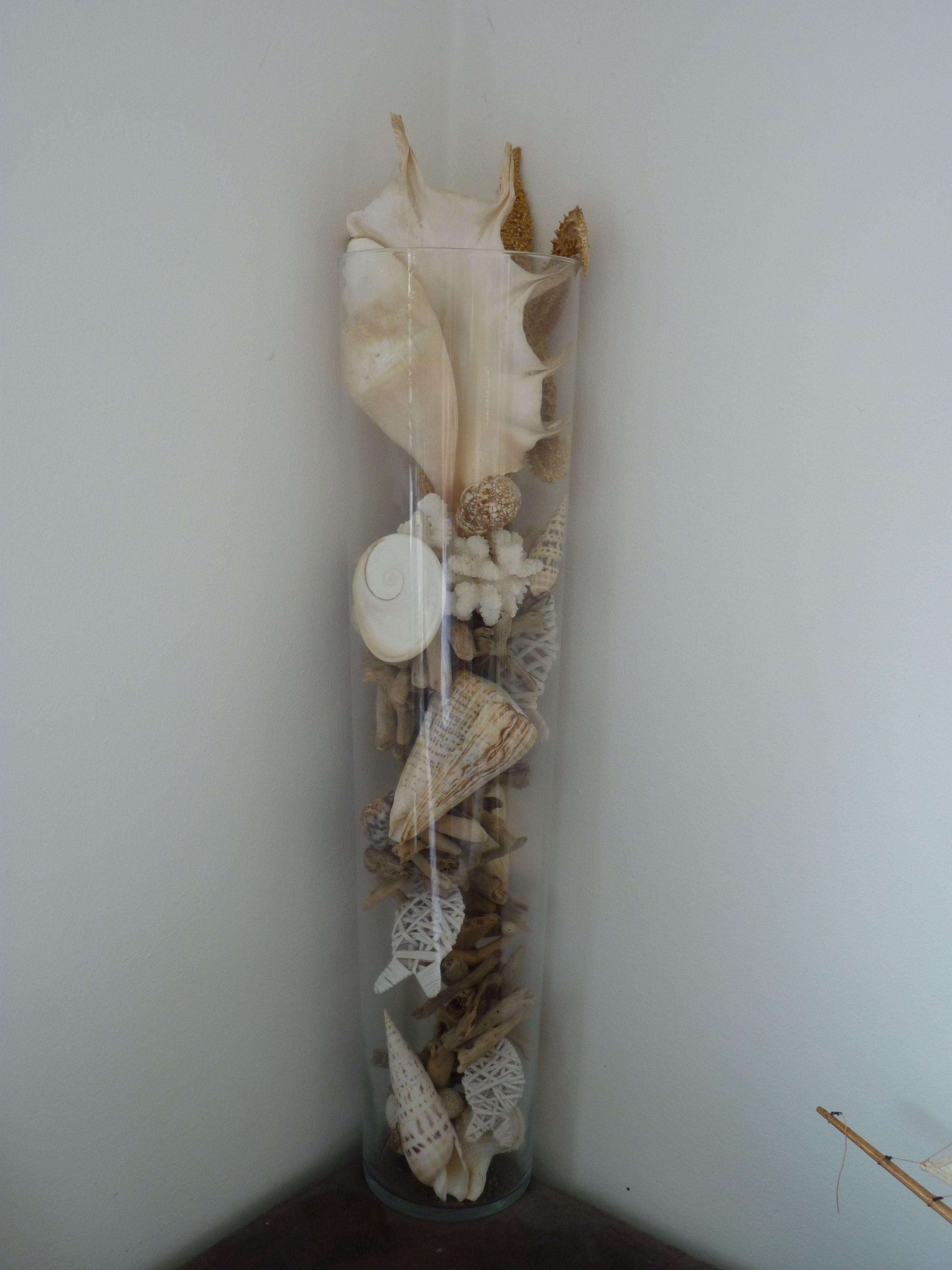 Vase bois flotté et coquillage | Deco mer | Pinterest