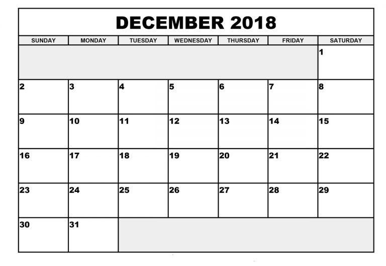 2018 December editable Calendar decemeber calendar Pinterest