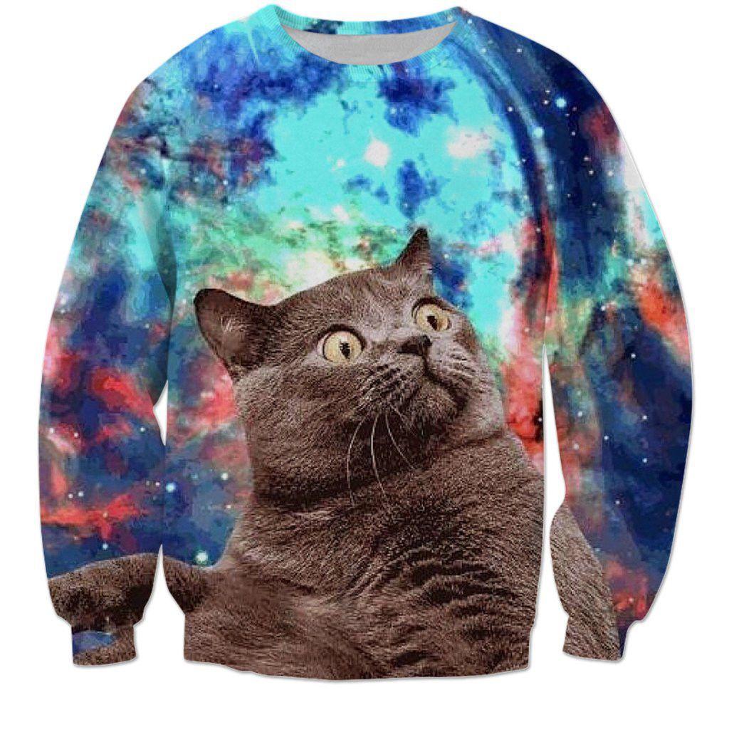 12 95 Women Men Galaxy Space Funny Cat 3d Print Casual Sweatshirt Hoodies Pullover Ebay Fashion Animal Sweatshirt Hoodies Womens Sweatshirts [ 1024 x 1024 Pixel ]