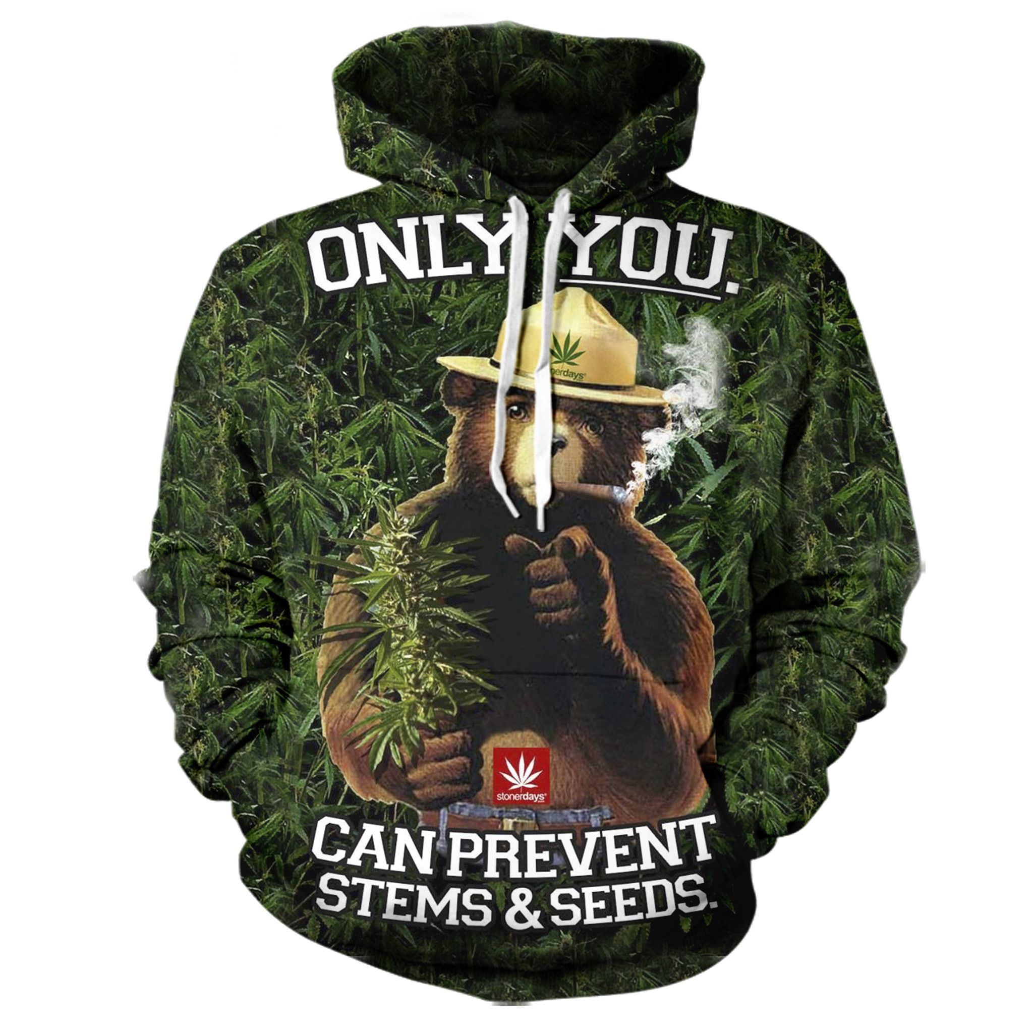 91d9a284 Smokey the Bear Pot Hoodie | Products