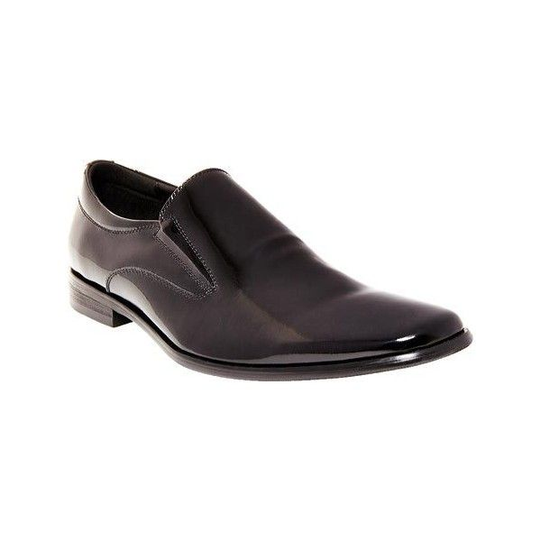 Men's Steve Madden Hikick Loafer - Black Patent Leather Dress ($110) ❤  liked on