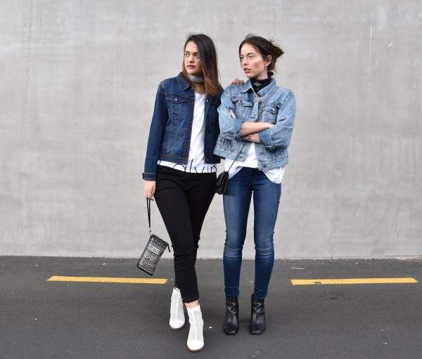 Pascale and Nami from fashion blog Serendipity Ave in collaboration with Farmers