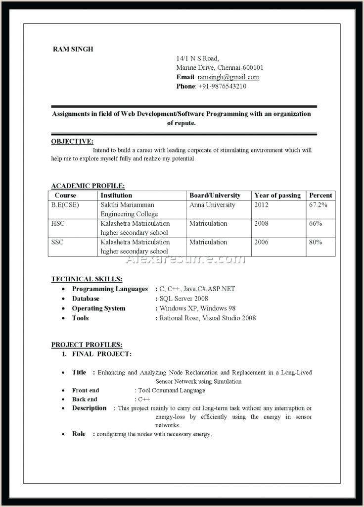 Mba Fresher Resume Format Doc - BEST RESUME EXAMPLES