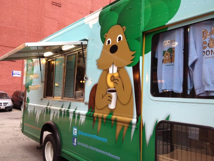 Beavers coffee donuts truck in chicago il with images