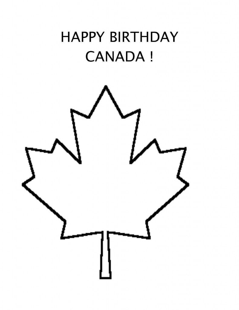 Happy birthday canada coloring page and song for kids itus a canada